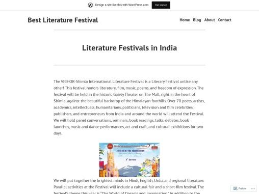 Book Fairs in India | Literature Festivals in India
