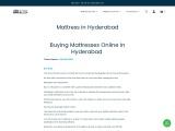 Buy Mattress in Hyderabad | Best mattress in India