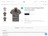 Click to enlarge Summer Casual Striped Shirt Men Polo Shirt