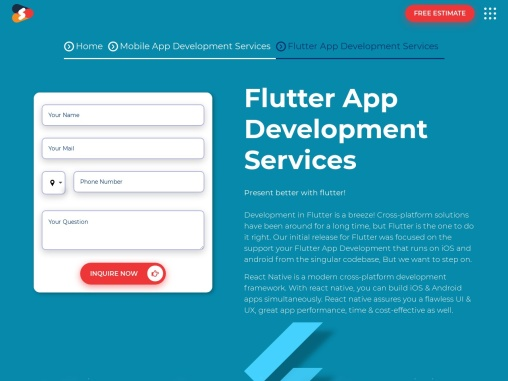 Flutter App Development Services in USA- Shiv Technolabs
