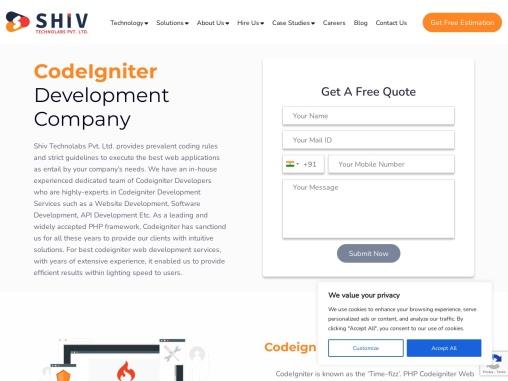 Reasons to choose Shiv Technolabs for Codeigniter Development