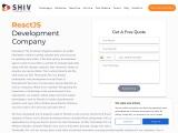React Js Development Company- Shiv Technolabs