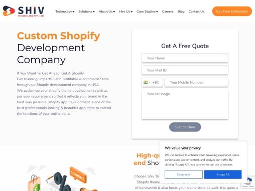 Best Shopify Development Company in USA- Shiv Technolabs Pvt. Ltd.
