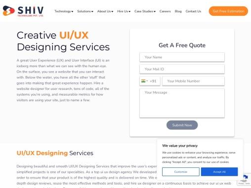 Best UI/UX Development Company- Shiv Technolabs