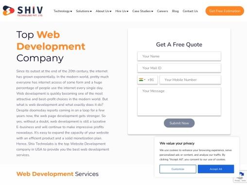 Best Website Development Services in USA- Shiv Technolabs