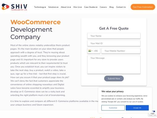 Top Woocommerce Development Company in USA- Shiv Technolabs
