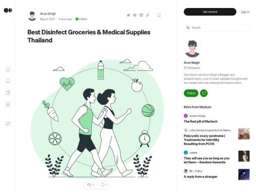 Best Disinfect Groceries & Medical Supplies Thailand