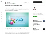 When is Easter Sunday 2021 UK?