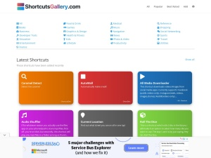 ShortcutsGallery.com – Download and share Siri Shortcuts