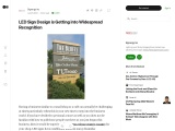 LED Sign Design is Getting into Widespread Recognition