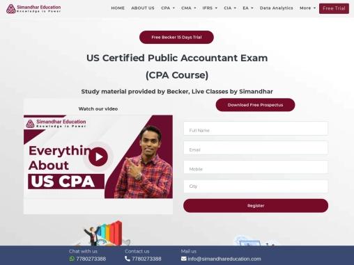 CPA Course, CPA USA course, CPA USA Course details