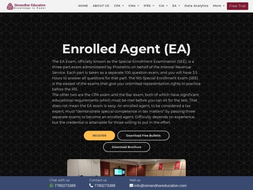Enrolled Agent EA Course Elgibility Exam Fees Salary in India