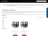 Commercial Curved Glass Cake Displays