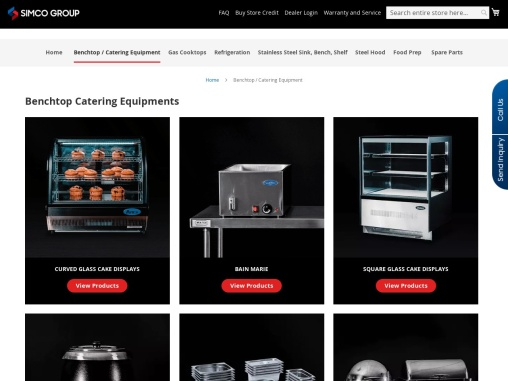 Commercial Benchtop Catering Equipments