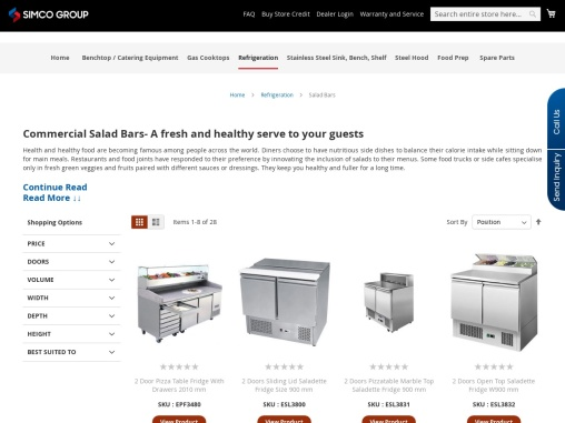 Commercial Salad Bar Display Supplier Across Australia