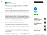 Principles Regulating Clinical Trial Worldwide