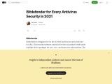Bitdefender for Every Antivirus Security In 2021