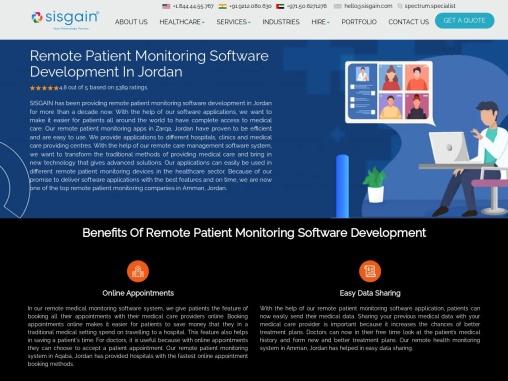 Remote Patient Monitoring Software Development In Jordan – SISGAIN
