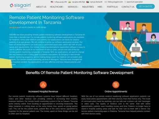 Remote Patient Monitoring Software Development In Tanzania – SISGAIN