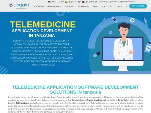 Telemedicine App Development Company in Tanzania | SISGAIN