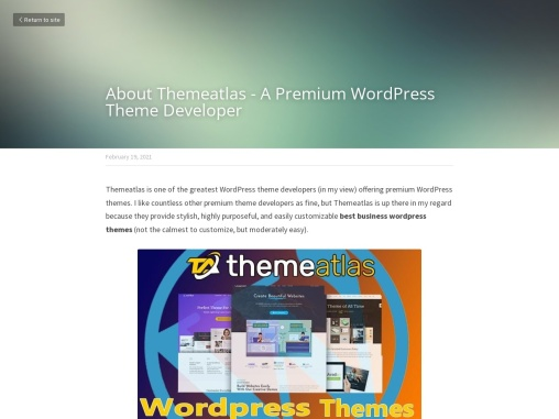 About Themeatlas – A Premium WordPress Theme Developer