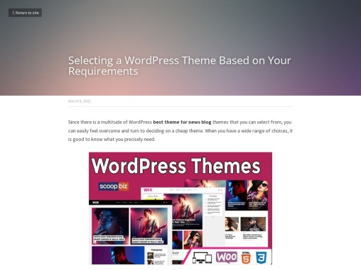 Selecting a WordPress Theme Based on Your Requirements