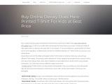 Buy Online Dewey Does Hero Printed T-Shirt For Kids at Best Price