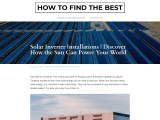 Solar Inverter Installations   Discover How the Sun Can Power Your World