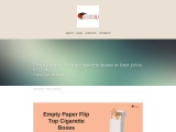 You Can Get Fully Cigarette blank boxes in USA