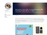 Attractive 15ml CBD Tincture Boxes & CBD Calming Chews Boxes in USA