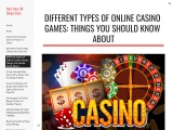 Different Types of Online Casino Games: Things You Should Know About