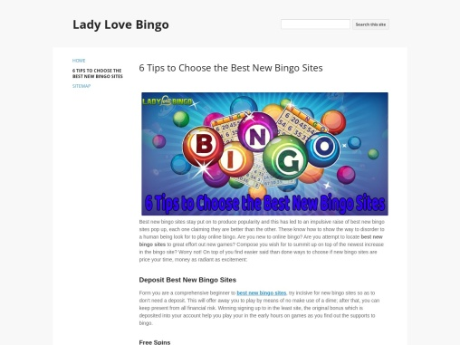 6 Tips to Choose the Best New Bingo Sites