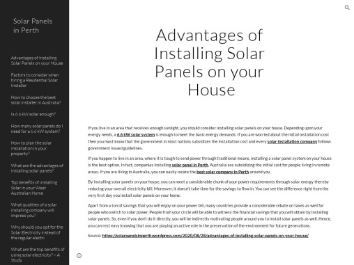 How to plan the solar installation in your property?