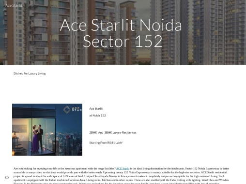 Residential Property Ace Starlit Noida
