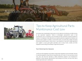 Tips to Keep Agricultural Parts Maintenance Cost Low