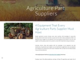 4 Equipment That Every Agriculture Parts Supplier Must Have