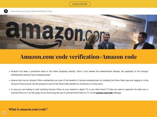 Amazon.com/code- Redeem your code and activate Amazon Prime
