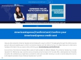 How do I confirm an American Express Card online?