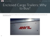 Enclosed Cargo Trailers: Why to Buy?