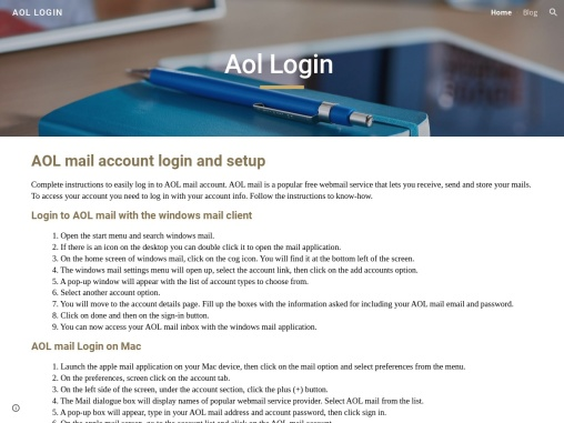 AOL mail account login – Learn and Fix