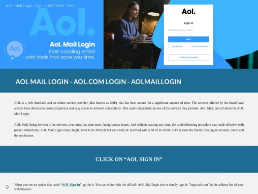 AOL MAIL LOGIN TROUBLESHOOTING