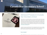 Admission Procedure In Canada Star Secondary School