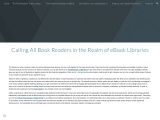 Calling All Book Readers in the Realm of eBook Libraries