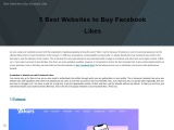 Get the Best Websites to Buy Facebook likes