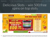Delicious Slots – win 500 free spins on top slots