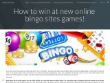 How to win at new online bingo sites games!