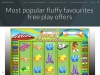 Most popular fluffy favourites free play offers