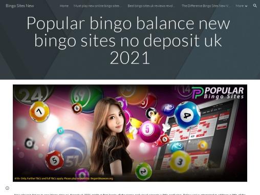 Popular bingo balance new bingo sites no deposit uk 2021