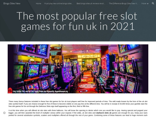 The most popular free slot games for fun uk in 2021
