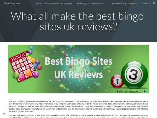 What all make the best bingo sites uk reviews?
